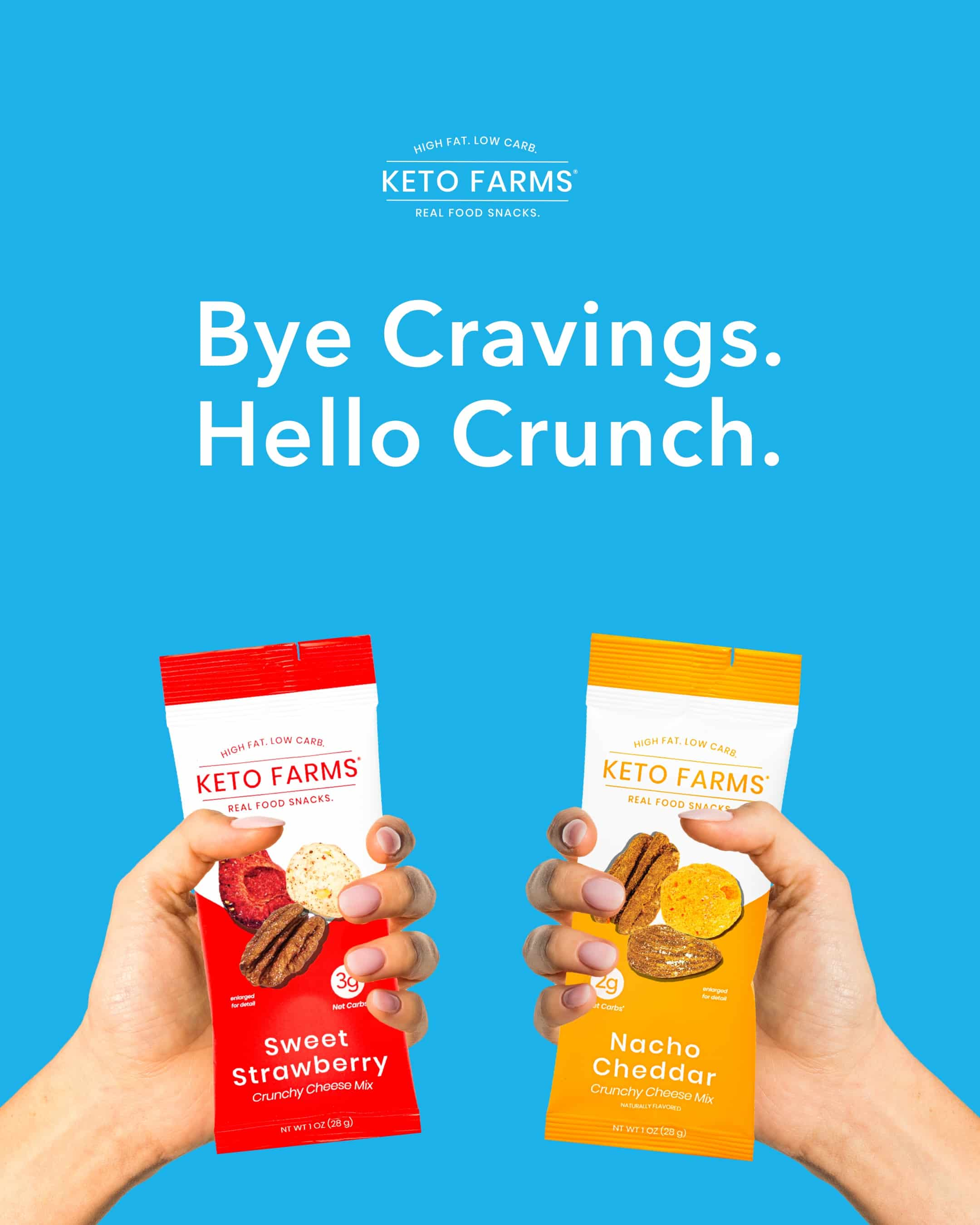 Keto Farms Launches New Keto Cheese Mixes in Portion Control Snack Packs