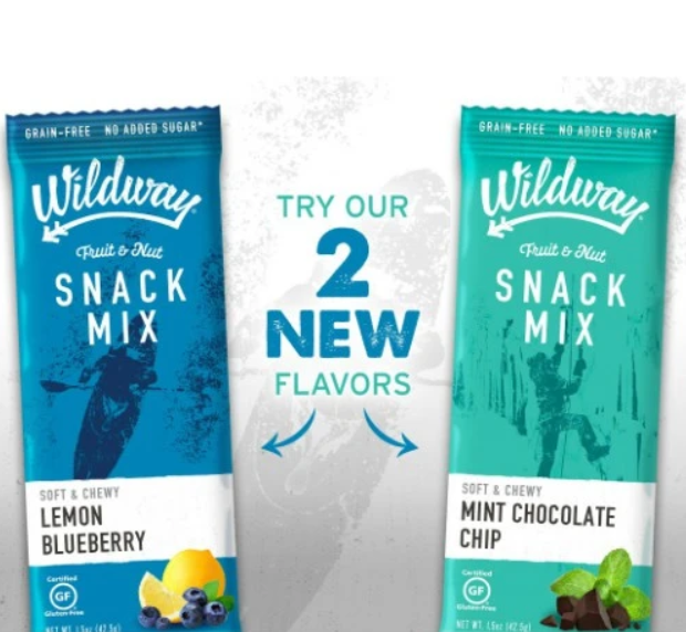 Wildway Launches Lemon Blueberry and Mint Chocolate Chip Snack Mixes