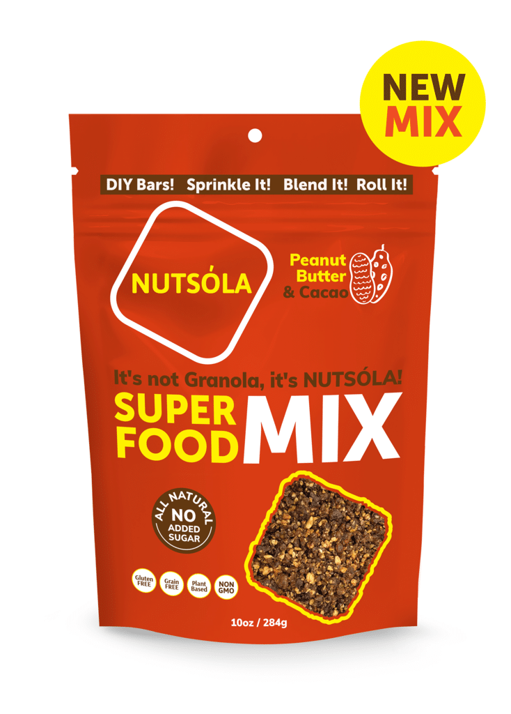 Nutsóla Adds Peanut Butter & Cacao to Flavor Options