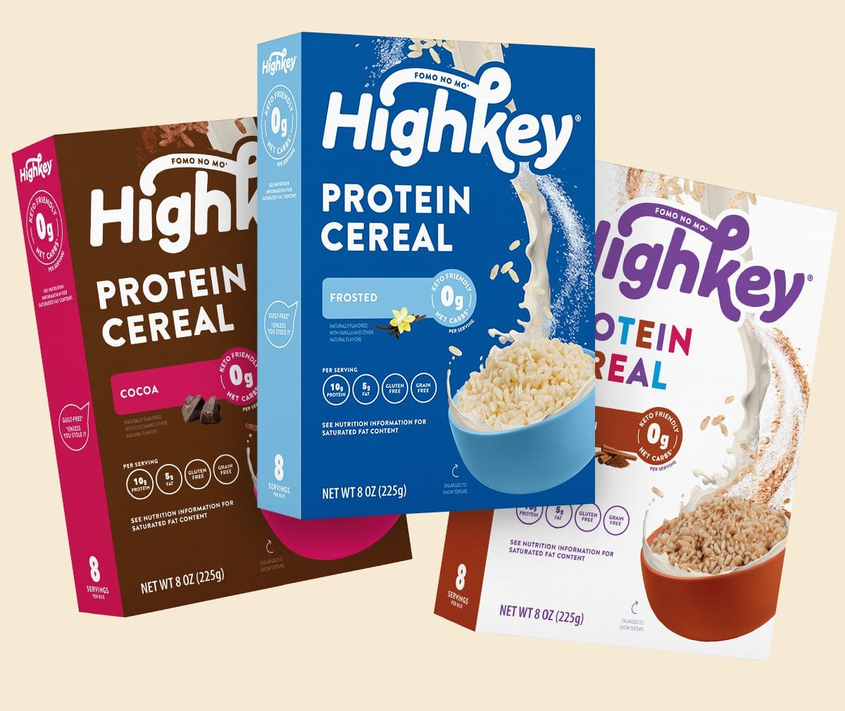 HighKey Launches Protein Cereals