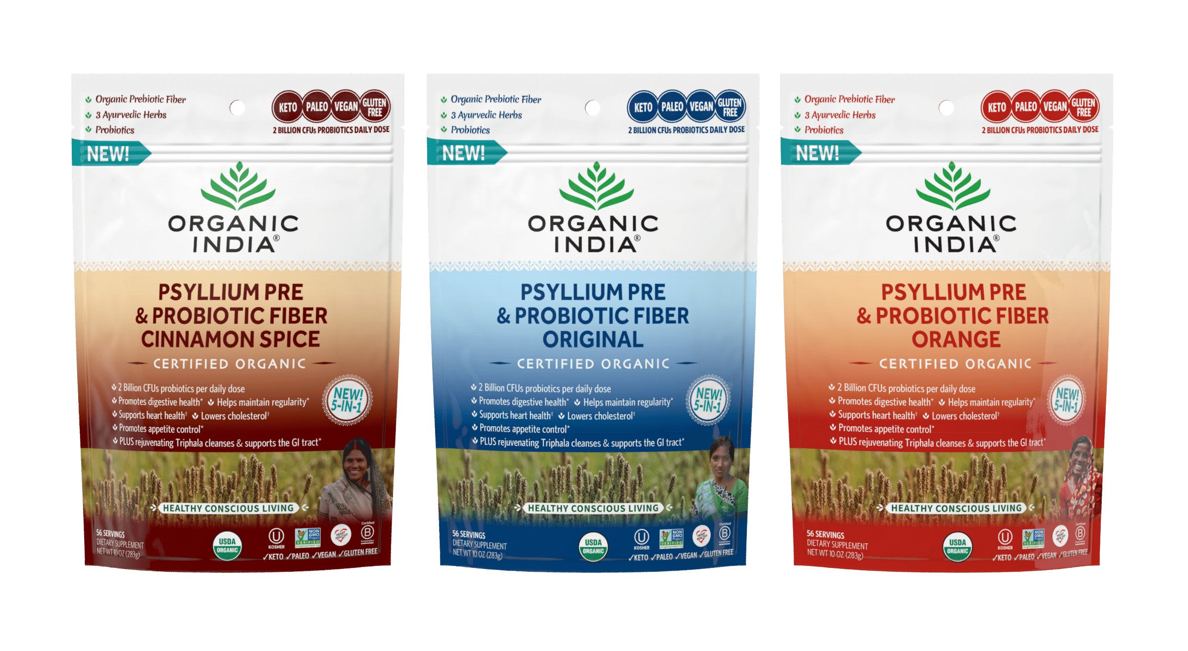 ORGANIC INDIA Launches Psyllium Pre & Probiotic Fiber