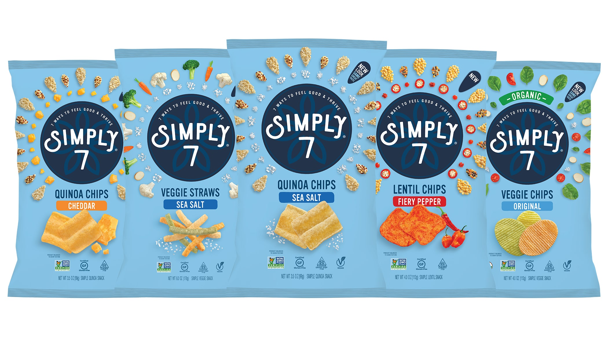 Simply 7 Introduces Two New Snacks, Launches New Branding