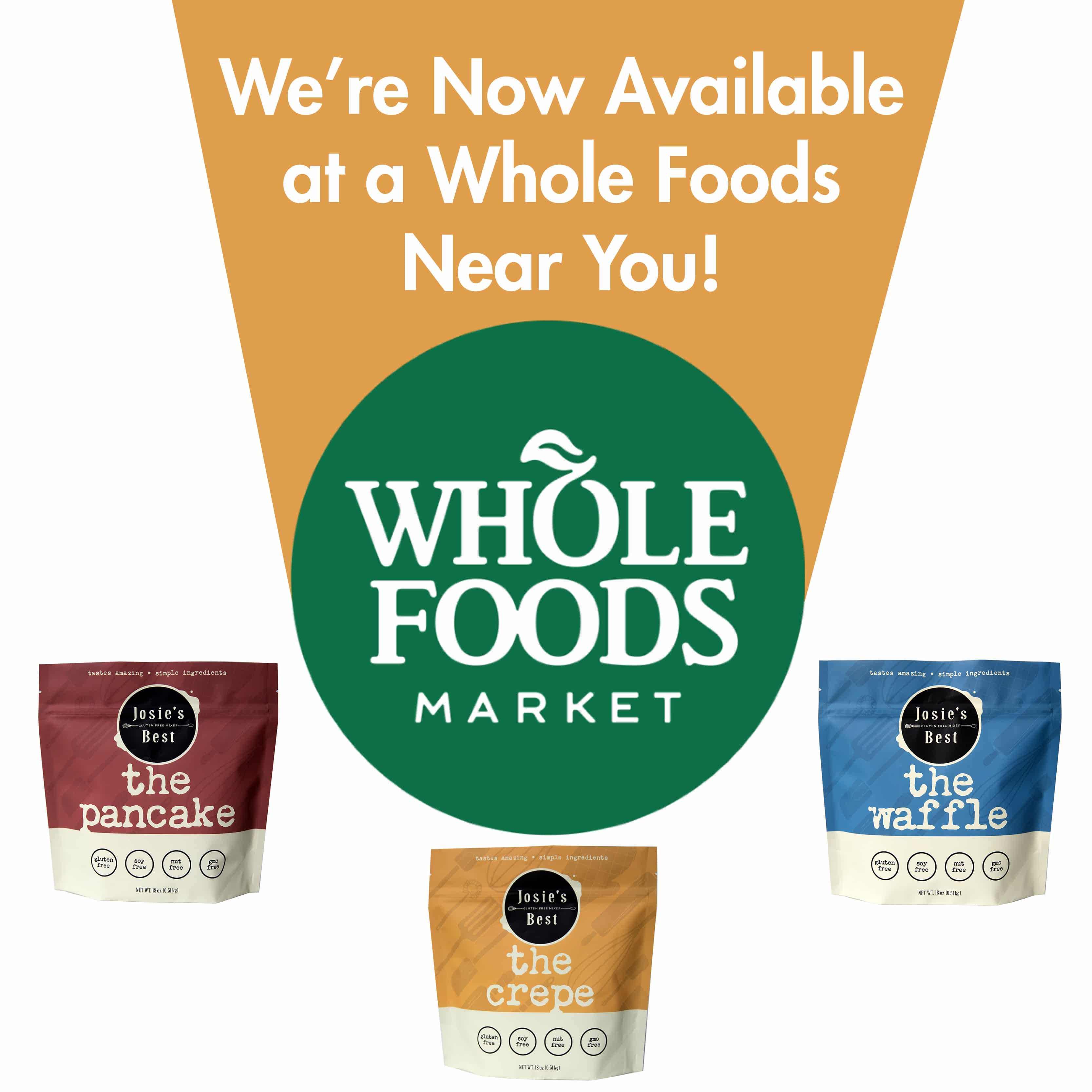 Josie's Best Gluten Free Mixes Launches With PNW Whole Foods