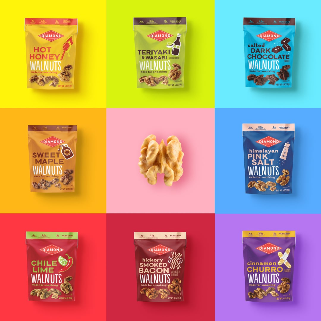 Diamond of California Launches its First-Ever Ready-to-Eat Snack Walnuts Line with Eight Flavors