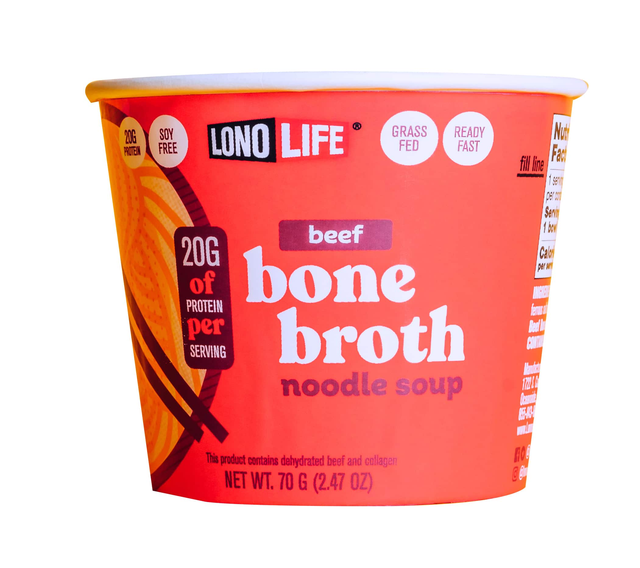 LonoLife Launches New Bone Broth Noodle Soups