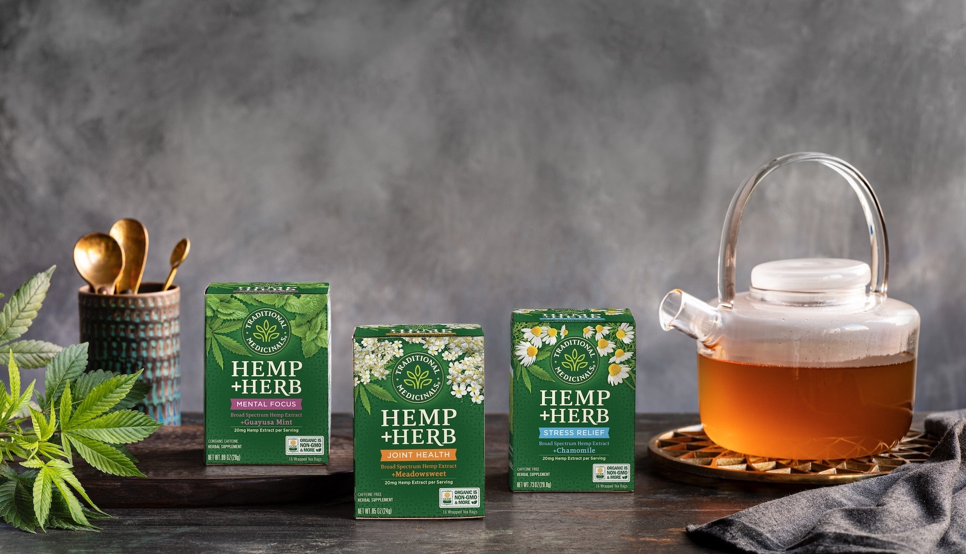 Traditional Medicinals Introduces New Line of Hemp+Herb Bagged Teas