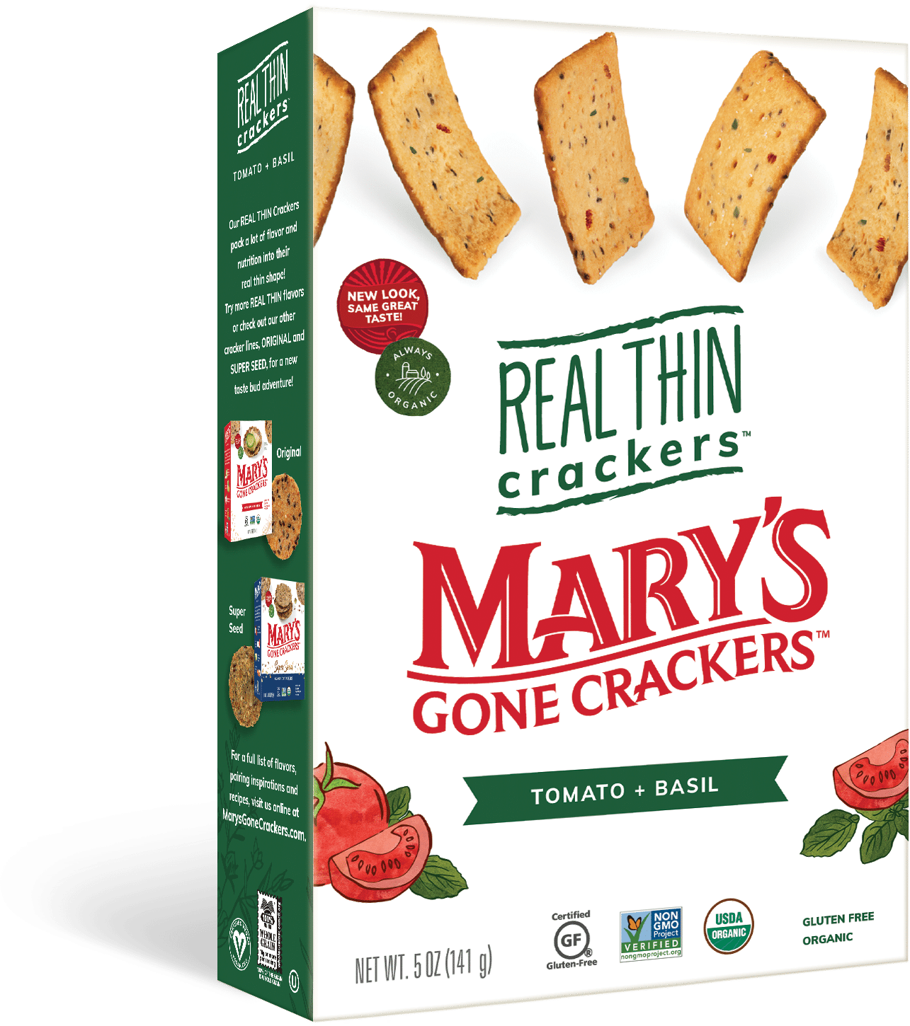 Mary's Gone Crackers Adds Three New Flavors to Real Thin Crackers Line