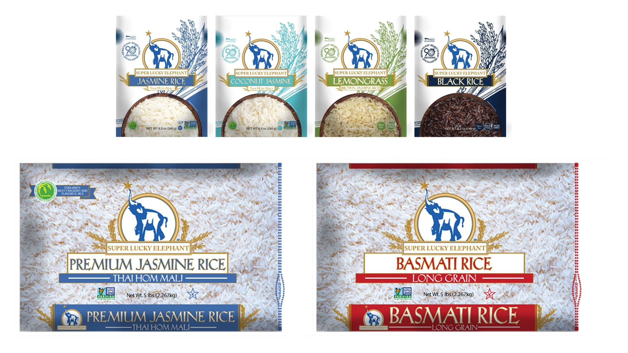 Super Lucky Elephant Debuts Three New Products and Fresh Look for Portfolio of Dry and Ready-To-Eat Rice