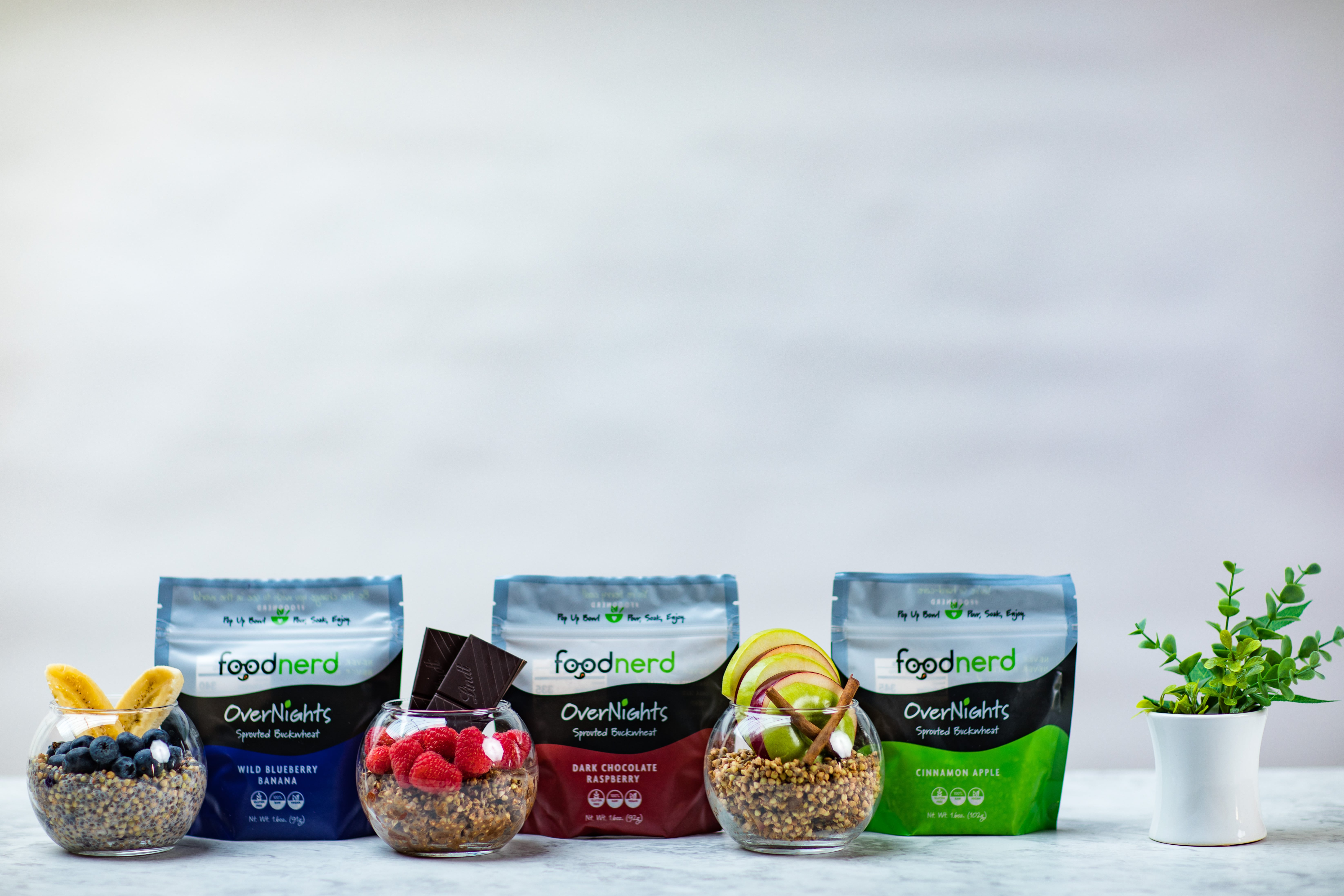 Foodnerd Launches Sprouted Overnight Buckwheat Breakfasts for Athletes and Fitness Enthusiasts