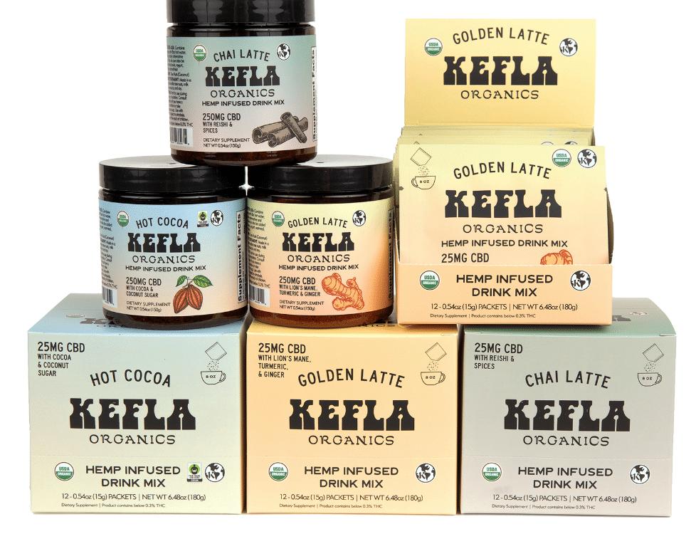 Kefla Launches New CBD Latte & Hot Cocoa Mixes