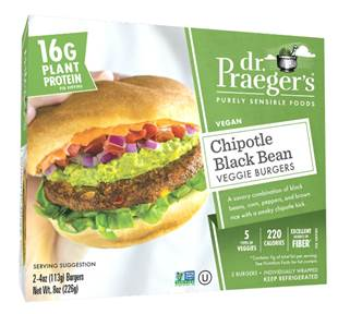 Dr. Praeger's Launches First Refrigerated Veggie Burger Line