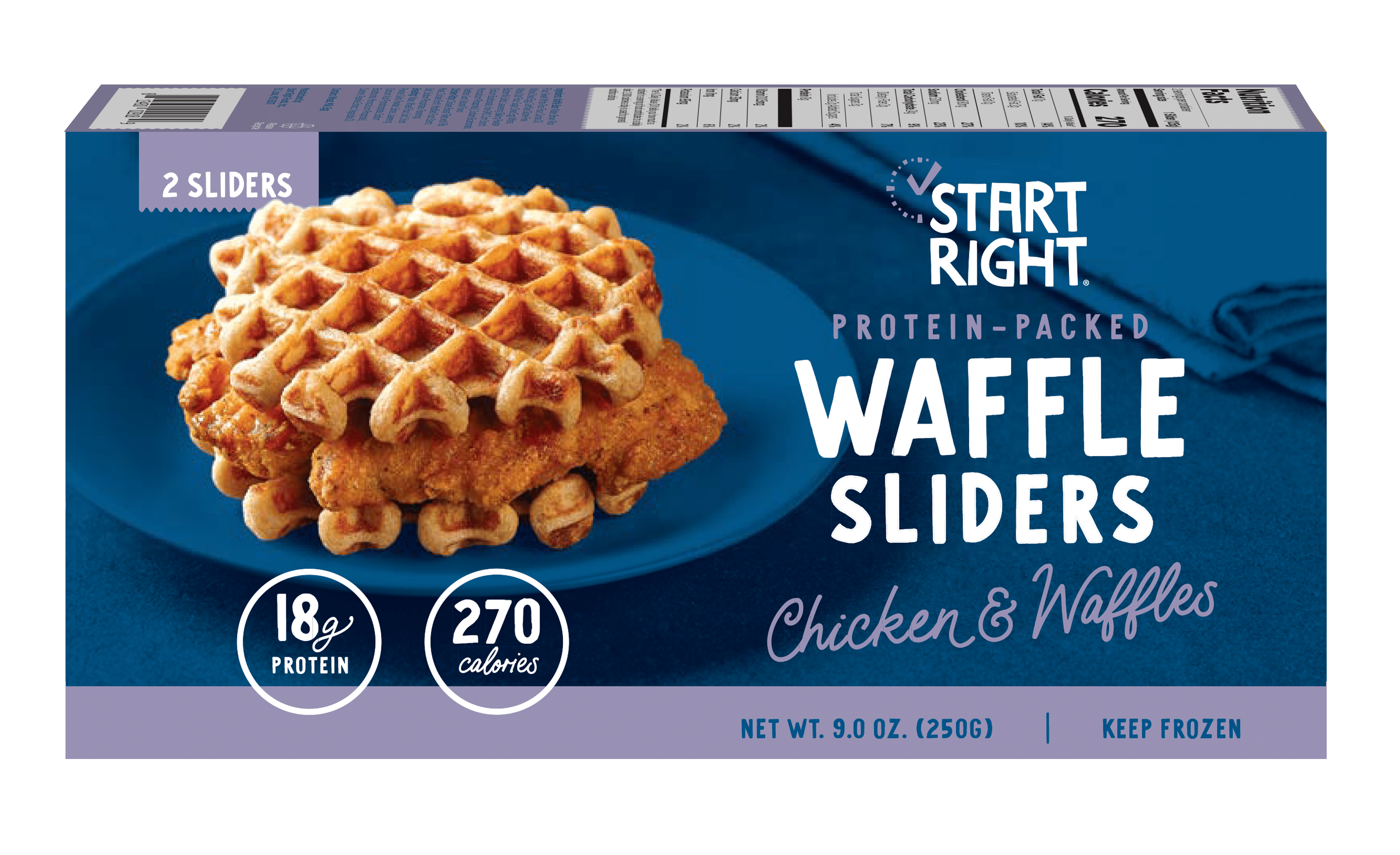 Start Right Launches Protein-Packed Chicken & Waffles Breakfast Sandwich in Sprouts Farmer's Market