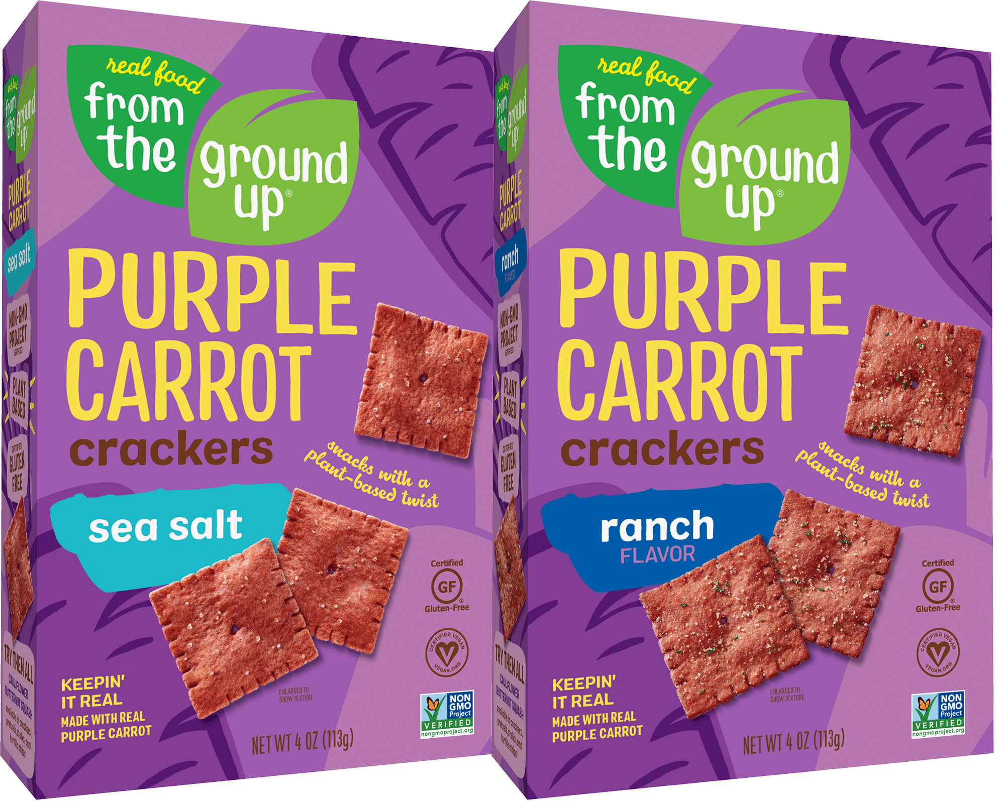 Real Food From The Ground Up Adds New Veggie to the Crew with Purple Carrot Crackers