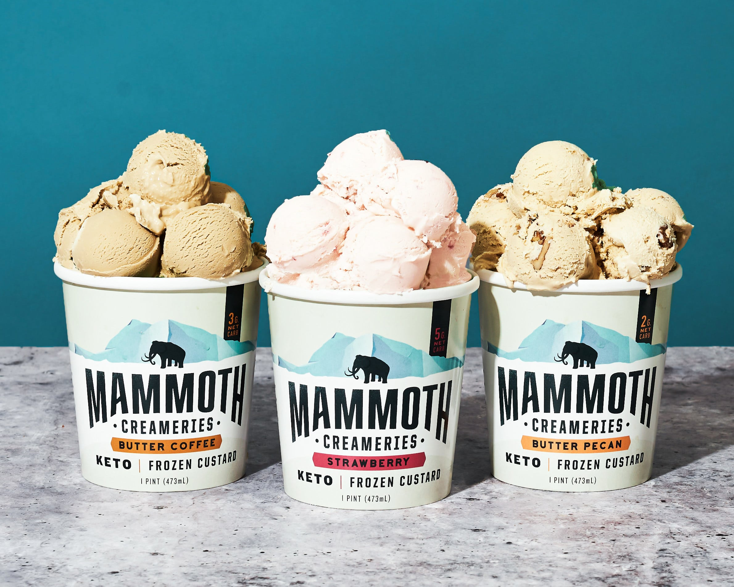 Keto Frozen Custard Brand Mammoth Creameries Releases Three New Flavors