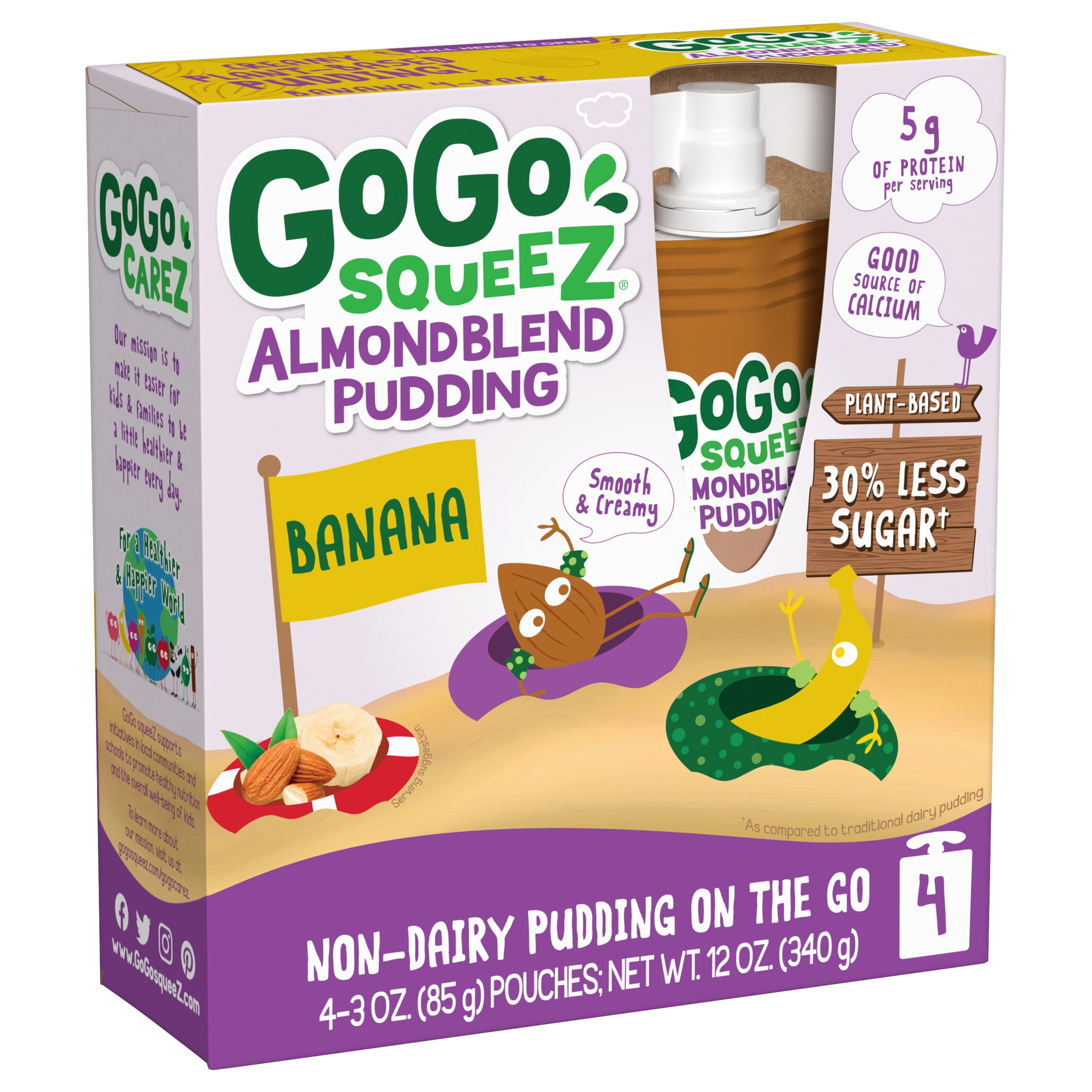 GoGo SqueeZ Reinvents The Pudding Cup With First-To-Market Plant-Based Pudding In A Pouch